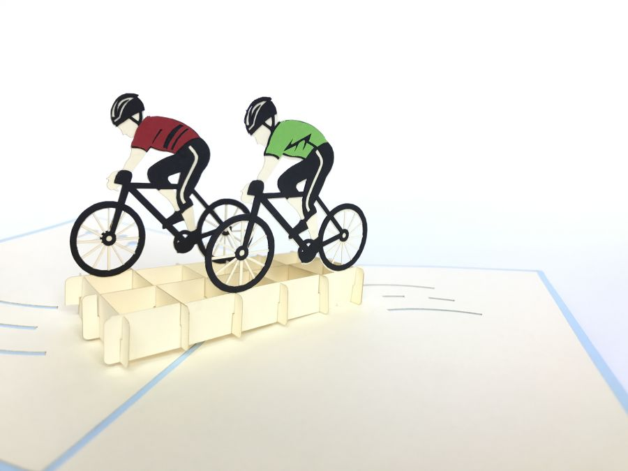 Cycling Team Pop Up Card