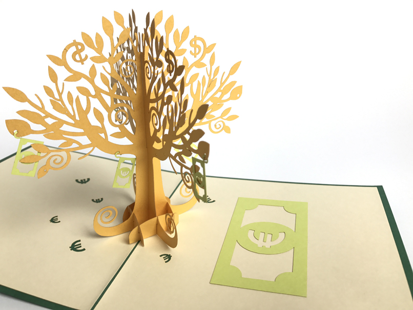 Money Tree Pop Up Card