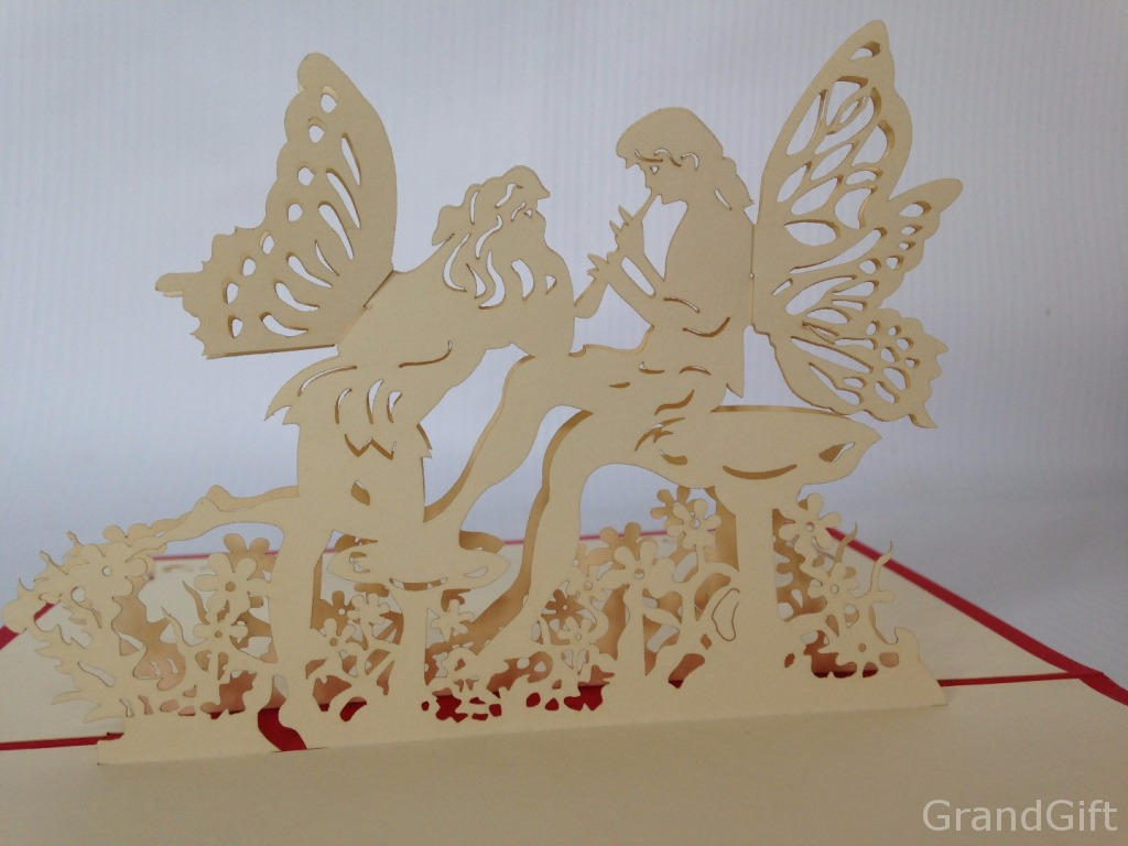 Kiss of Angels Pop Up Card