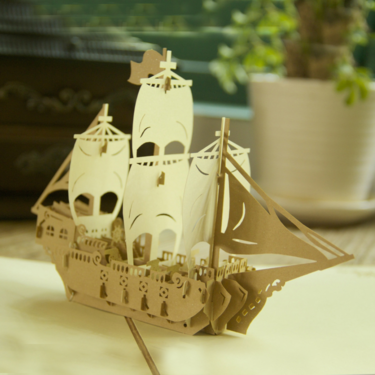 Have A Nice Trip Boat Pop Up Card