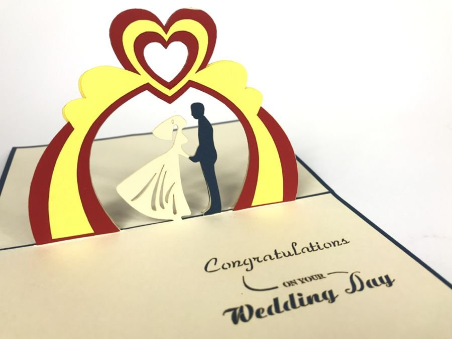 Congratulations On Your Wedding Day Pop Up Card