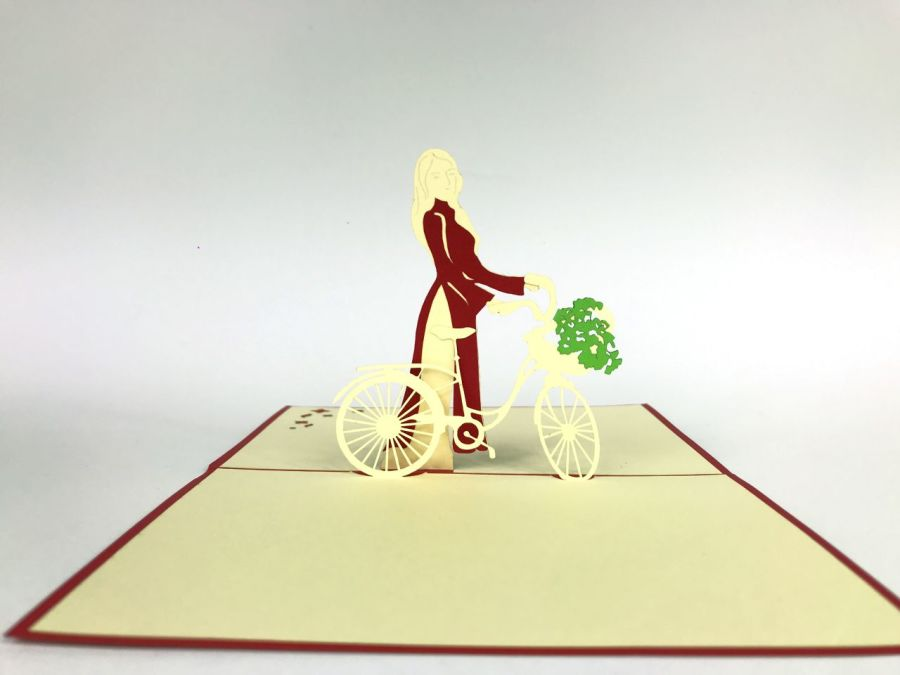 Bicycle Pop Up Card