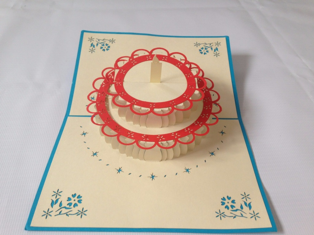 Birthday Cake 4 Pop Up Card
