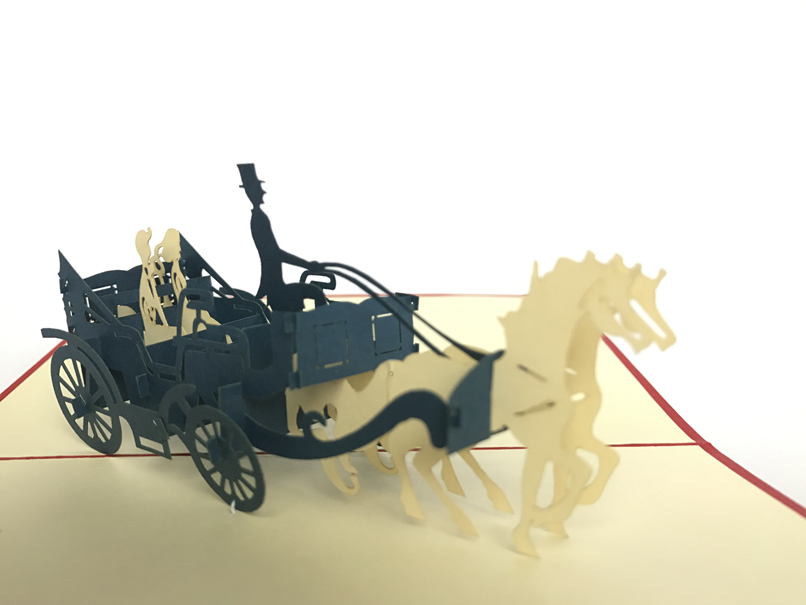 Carriage Pop Up Card
