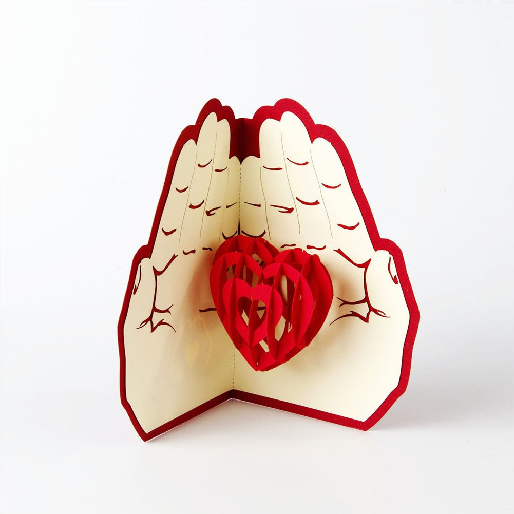 Love In The Hands Pop Up Card
