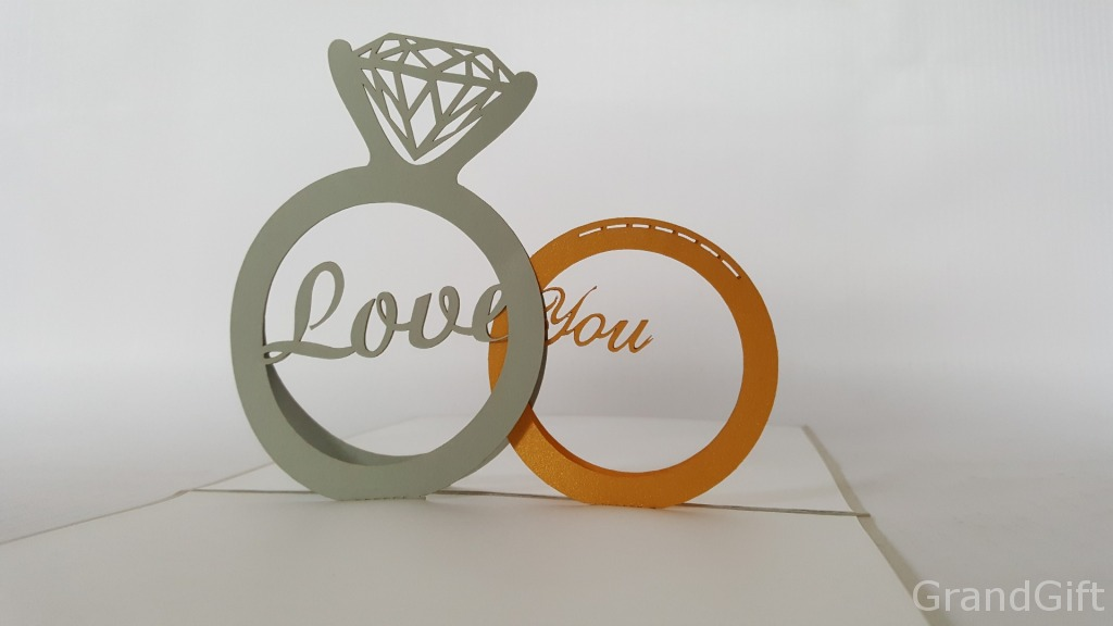 Gold Ring Pop Up Card