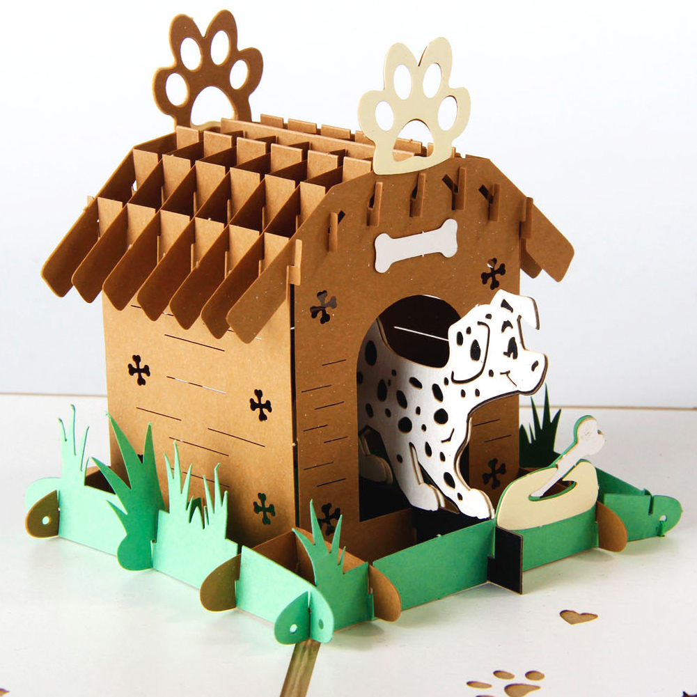 Dog Kennel 2 Pop Up Card