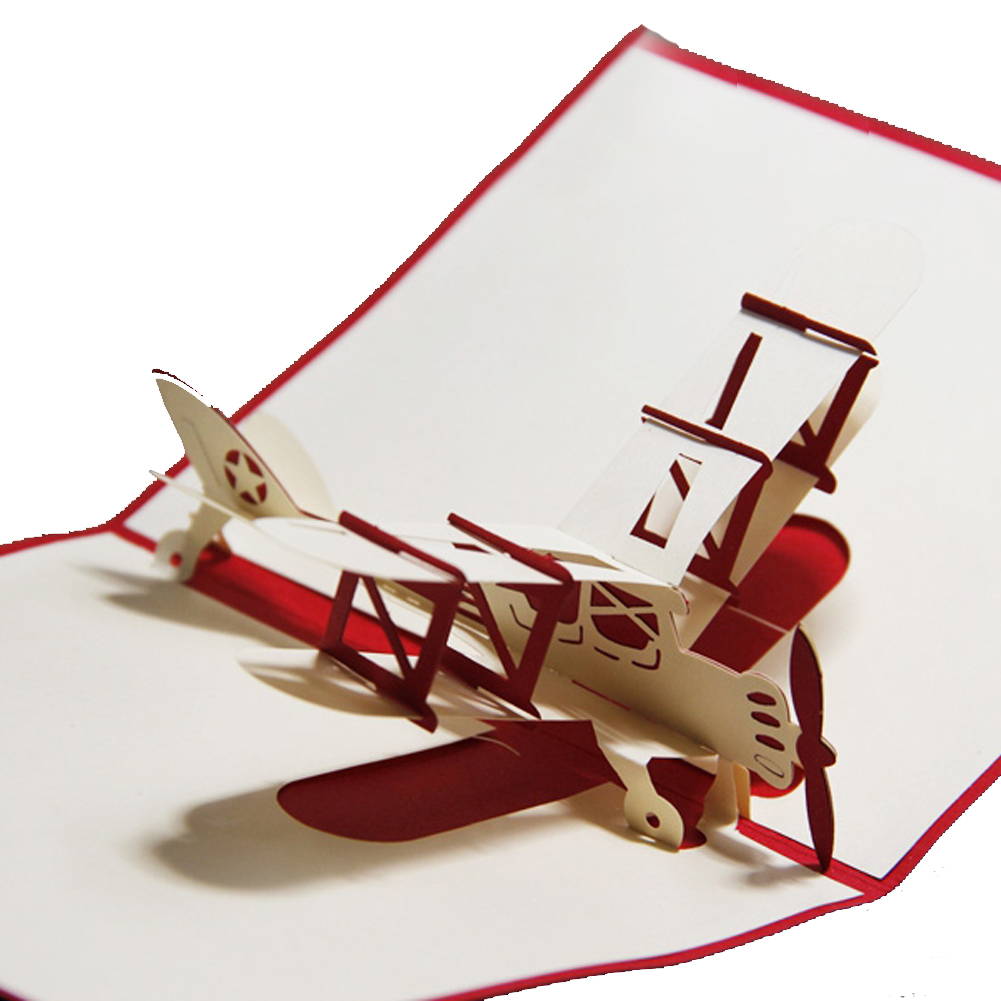 Red Plane Pop Up Card