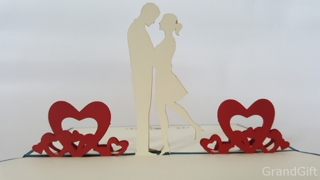 Love Couple Pop Up Card