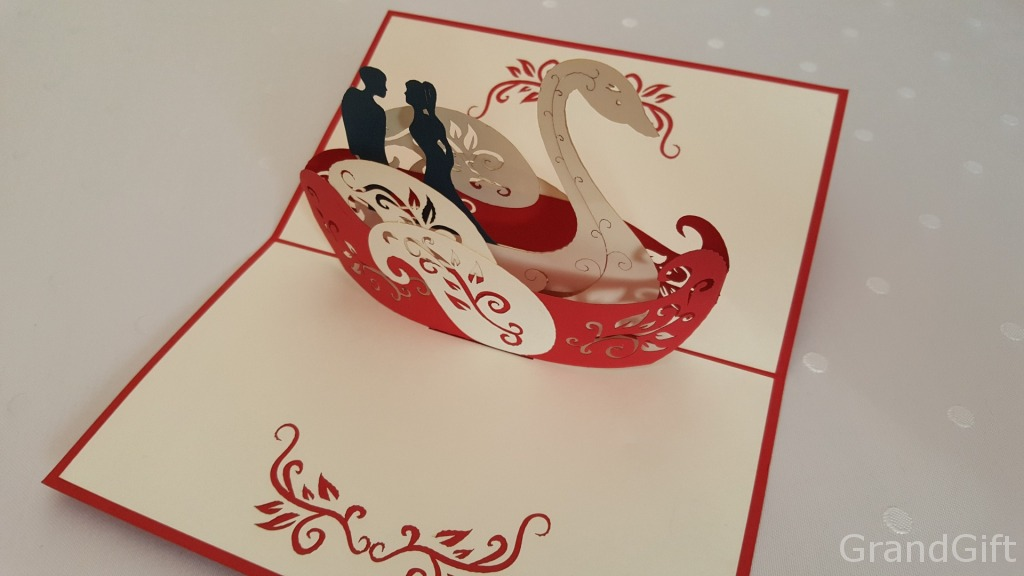 Swan Boat Pop-Up Card