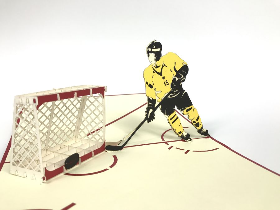 Hockey Pop Up Card