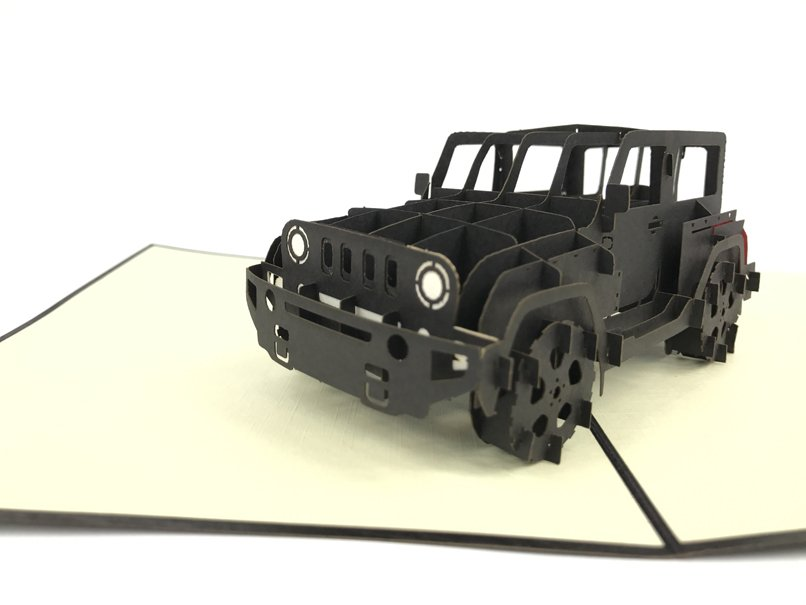 Jeep Black Pop Up Card