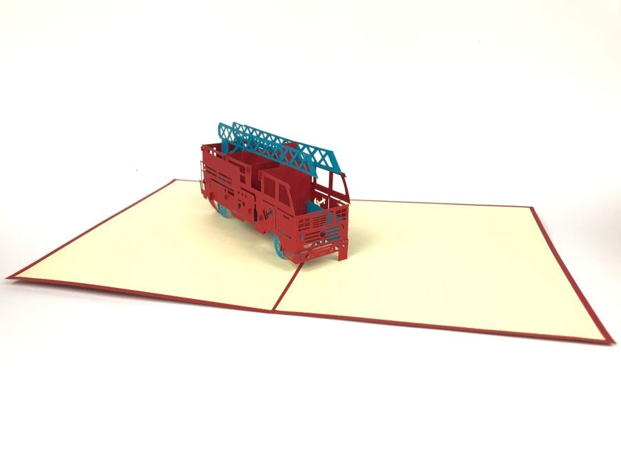 Fire Enginee Car Pop Up Cards