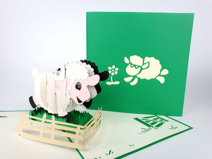 Sheep Pop Up Card