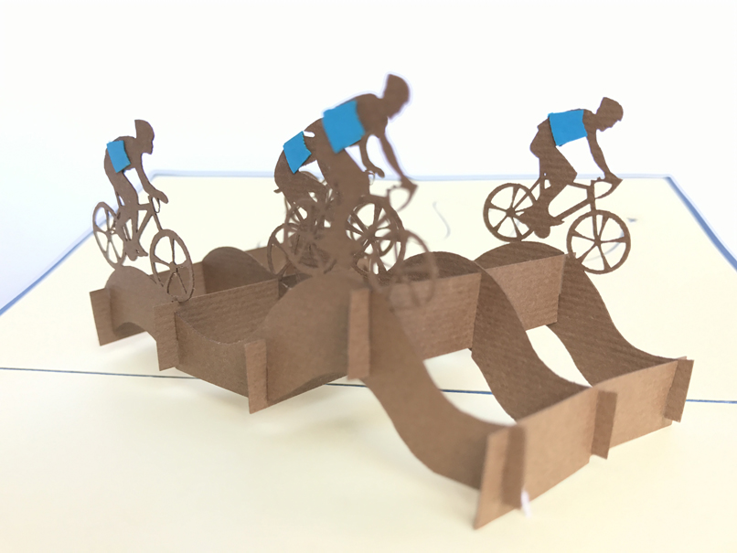 Cycling Team Pop Up Cards