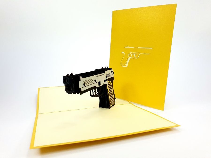 Gun Pop Up Card