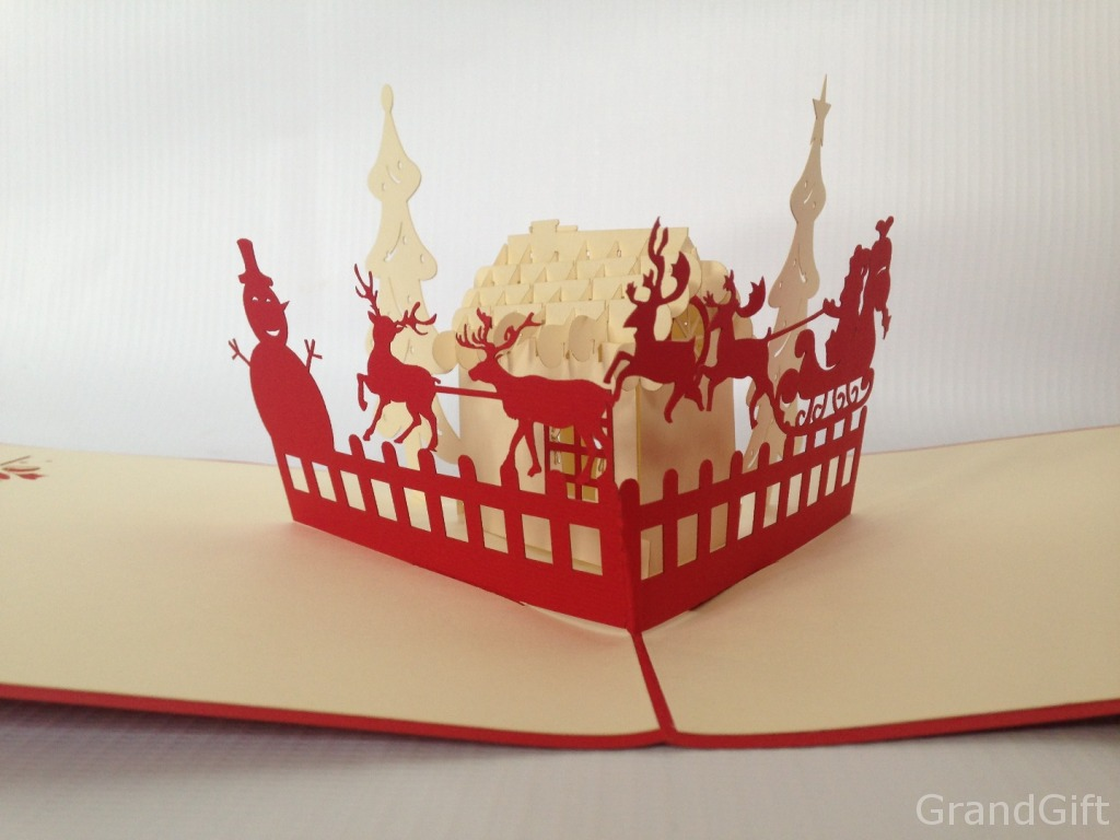 Santa's House Pop-Up Card