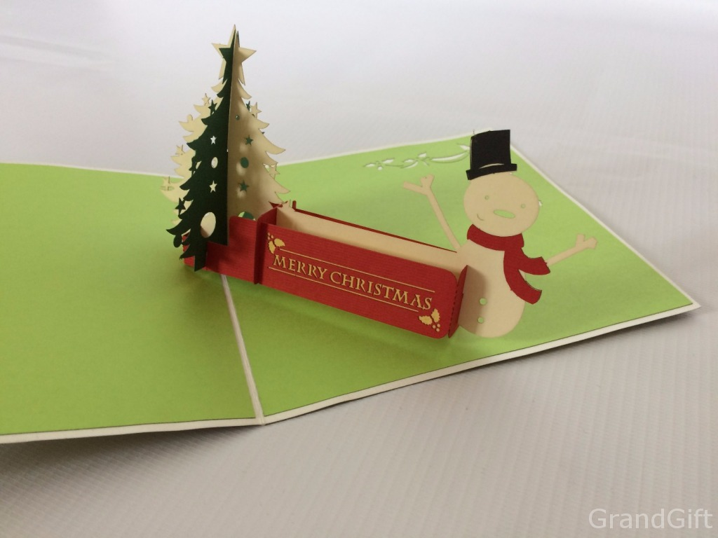 Snowman 2 Pop-Up Card
