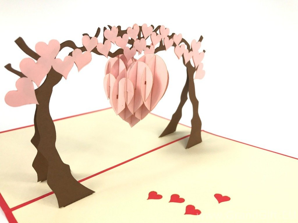 Heart Swing On The Arch Pop Up Card