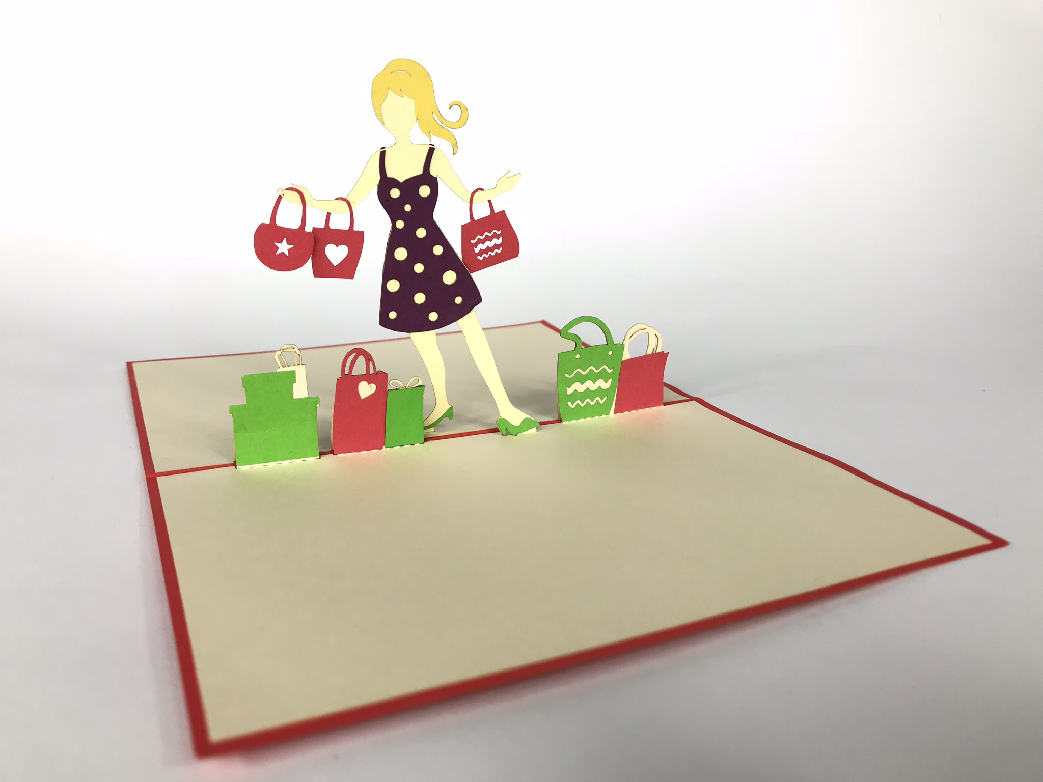 Shopping Pop Up Card