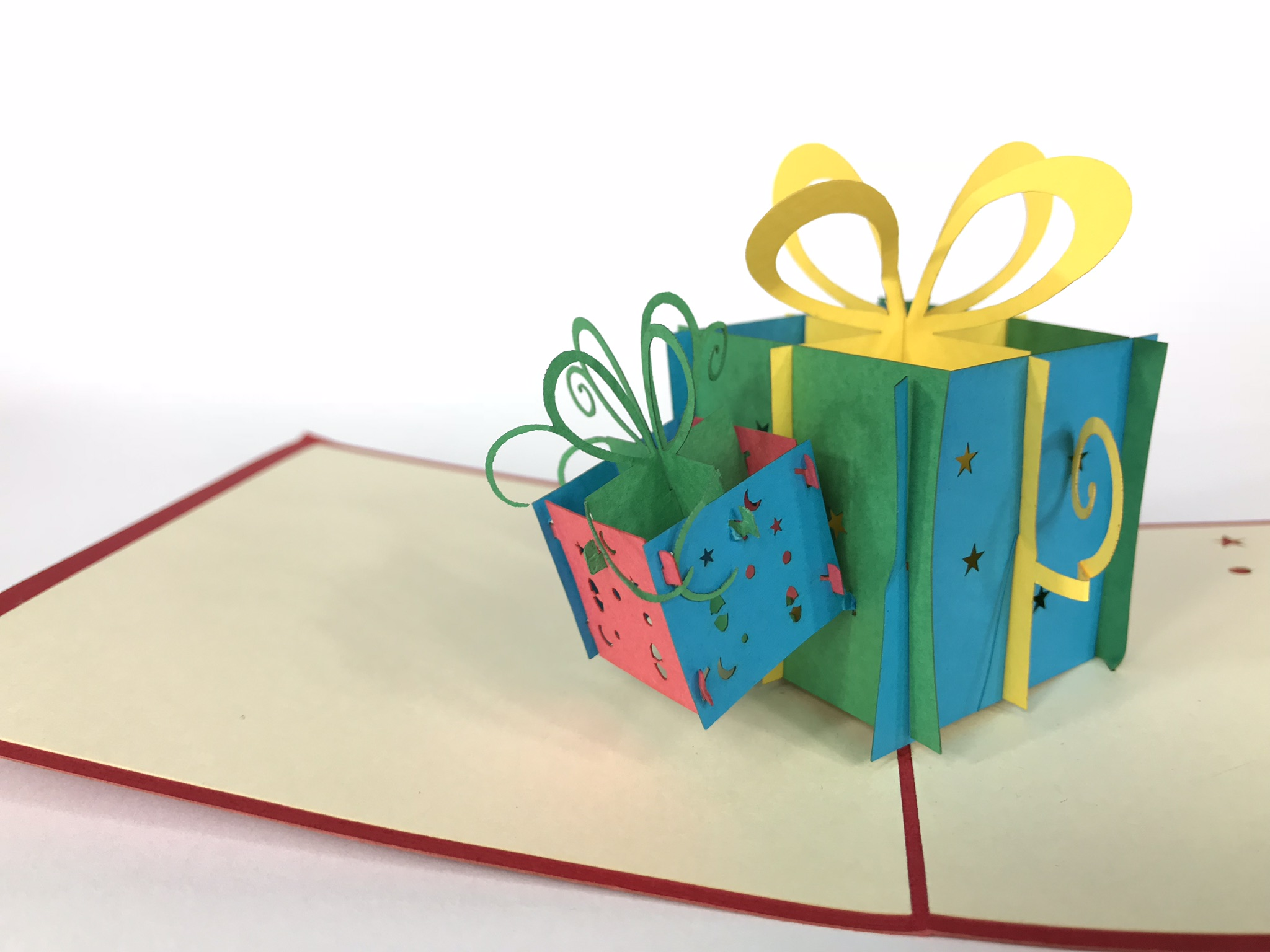 Double Present Pop Up Card