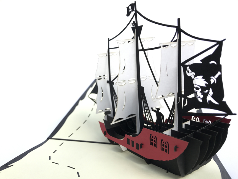 Pirate Boat Pop Up Card