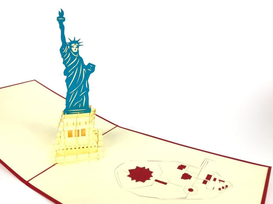 Statue Of Liberty NY Pop Up Card