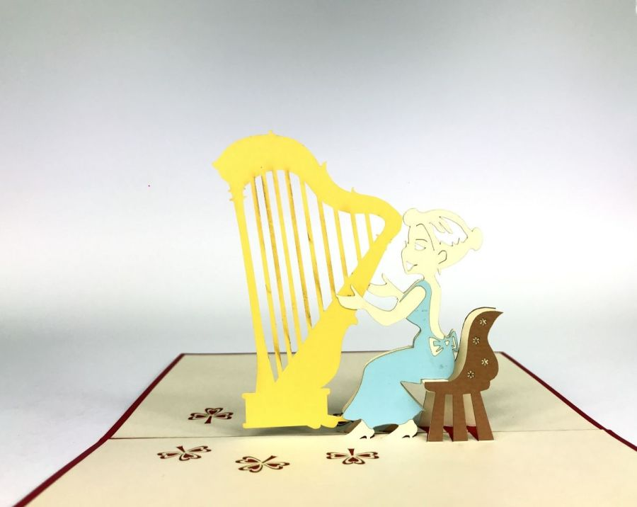 Harp Pop Up Card