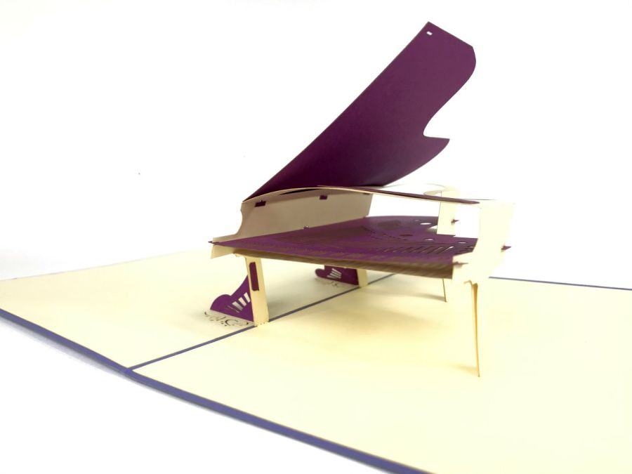 Purple Piano Pop Up Card