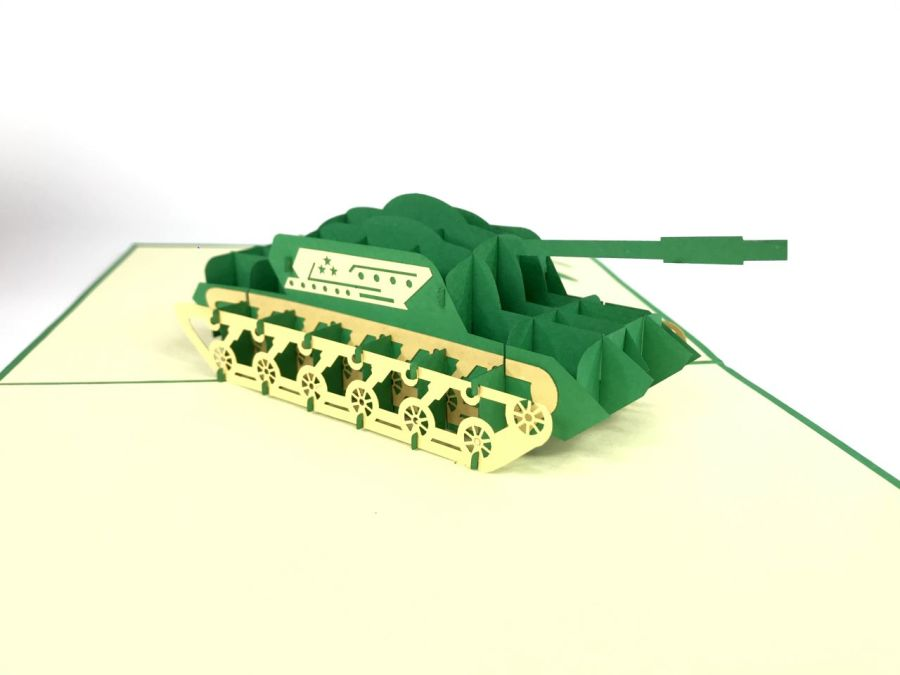 Army Tank Pop Up Card