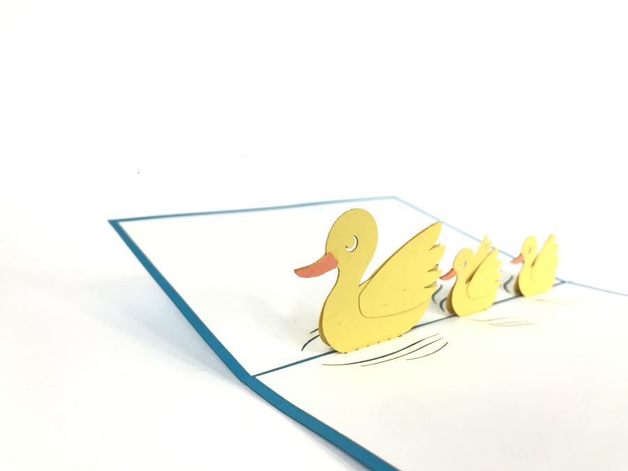 Duck Family Pop Up Card