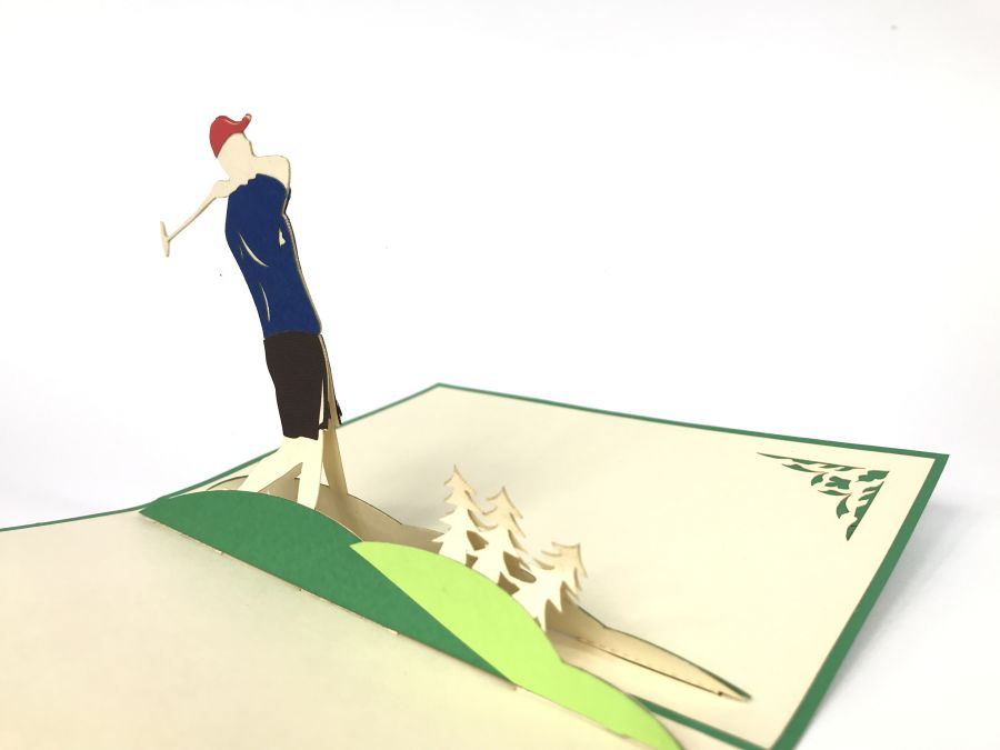 Green Golf  Pop Up Card