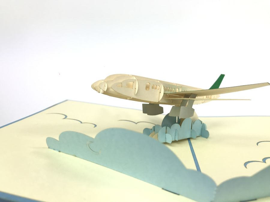 Blue Airplane Pop Up Card