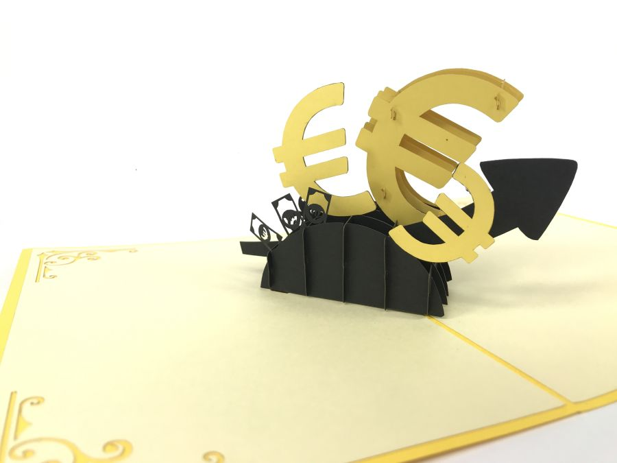 Euro Currency Pop Up Card