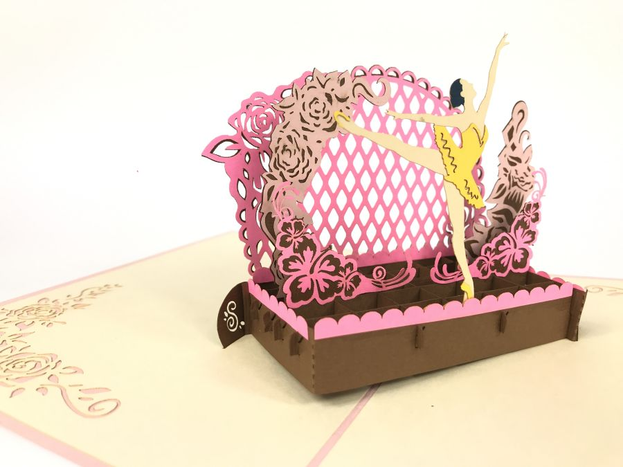 Ballerina Theater Pop Up Card