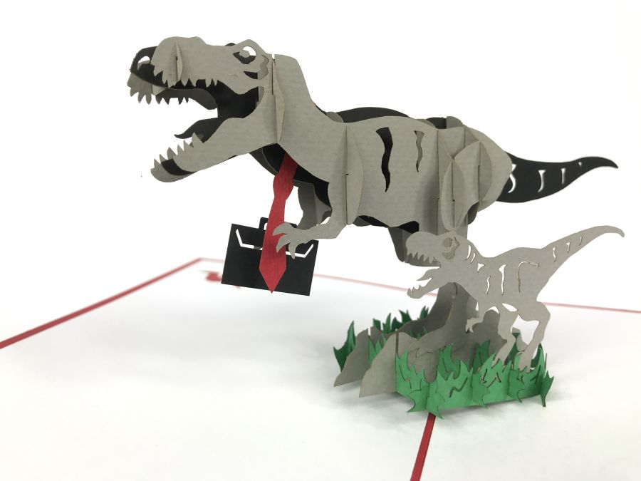Trex Tie Pop Up Card