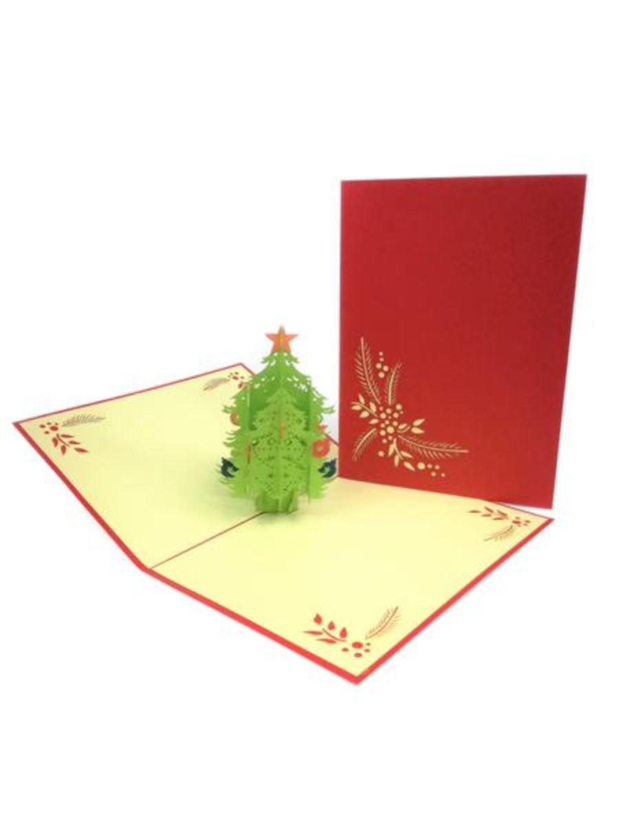 Small Christmas Tree Pop Up Card