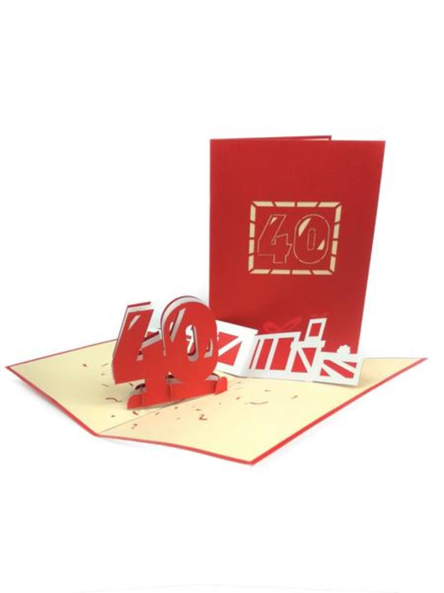 40th Birthday Pop Up Card