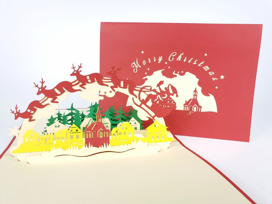 Christmas Pop Up Cards.Merry Christmas Pop Up Card