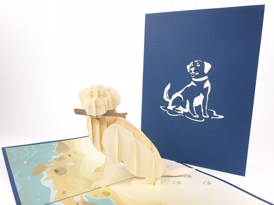 Labrador Dog Pop Up Card
