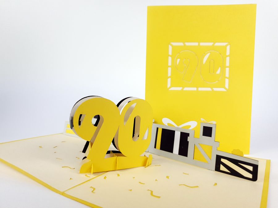 90th Birthday Pop Up Card