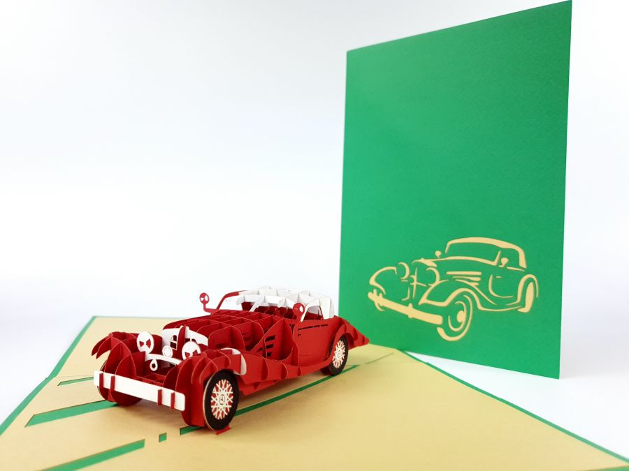 Old Fashion Car Pop Up Card