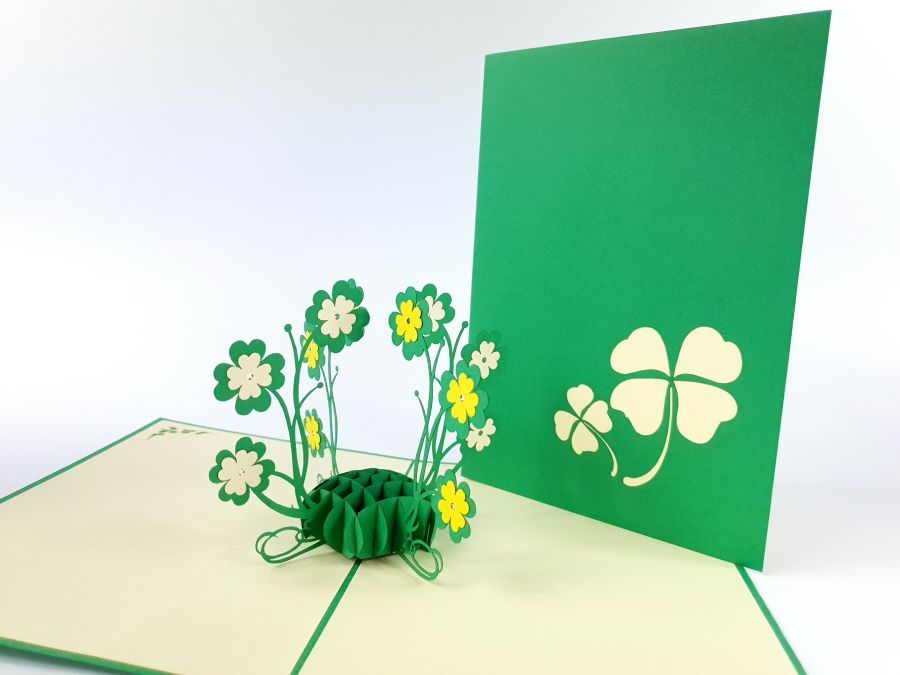 Clover Flower Pop Up Card