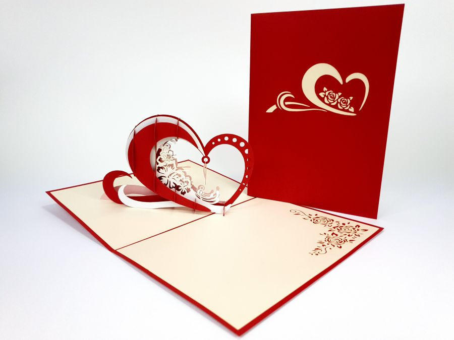 Heart Swing Pop Up Card