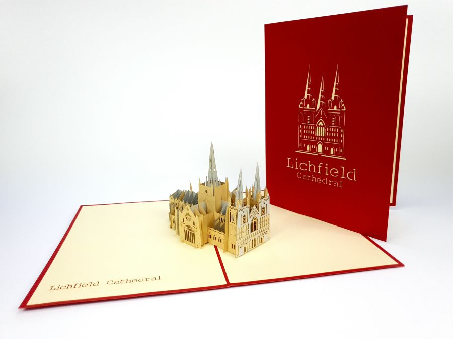 Lichfield Cathedral Pop Up Card