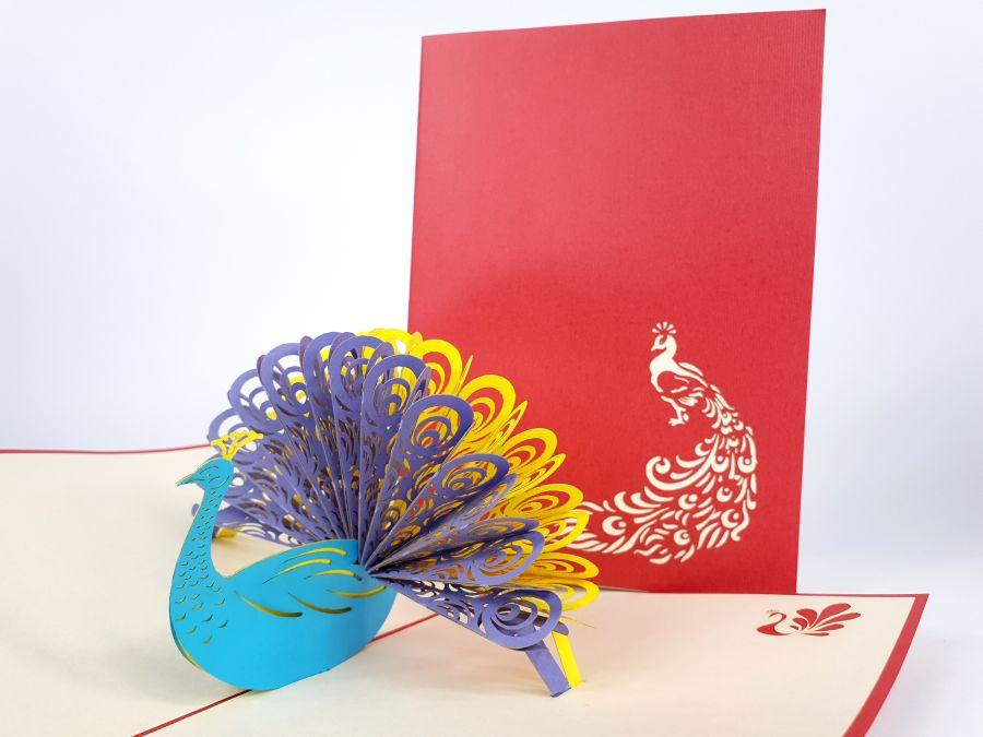 Peacock Pop Up Card