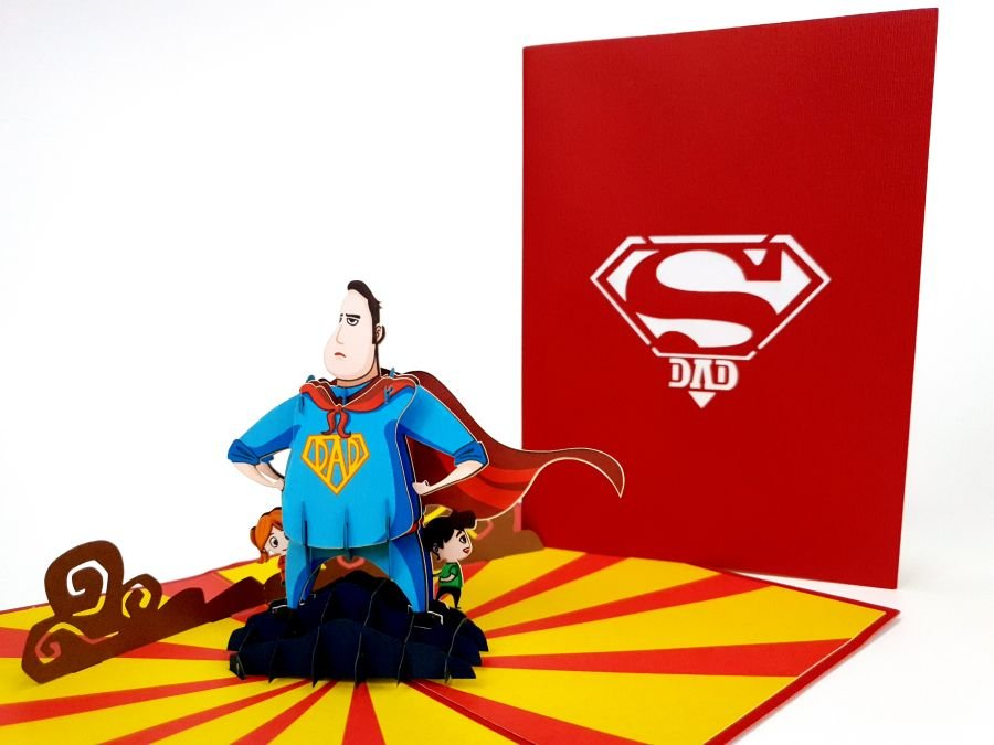 Super Dad Pop Up Card