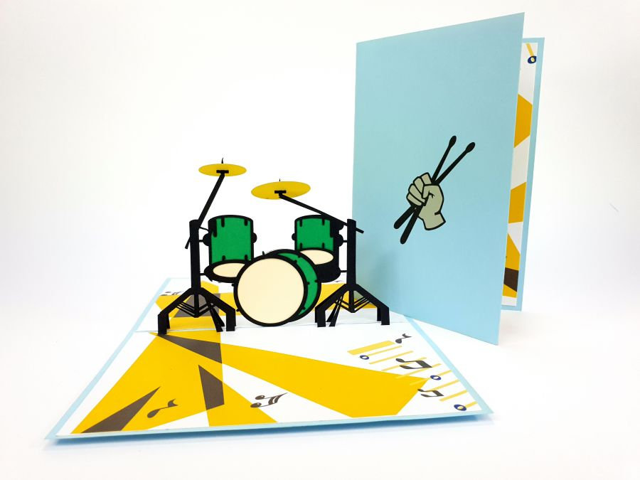 Color Drums Pop Up Card