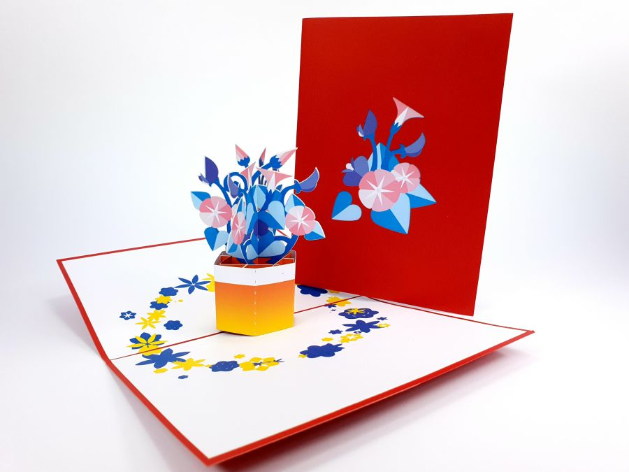 Nice Flower Pop Up Card