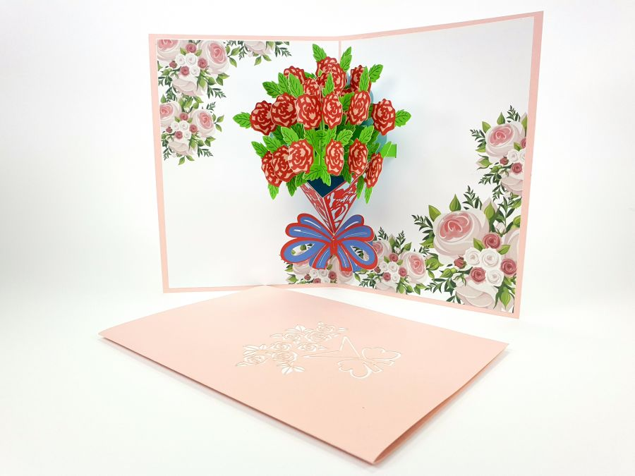 Rose Bonquet Pop Up Card
